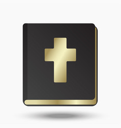 holy bible on a white background vector image
