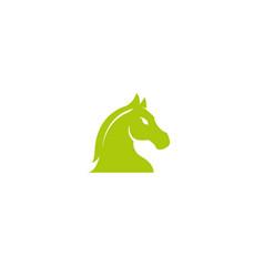 horse head for chess symbol logo design vector image