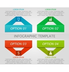 Infographic geometric template vector