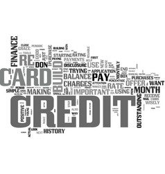 It takes credit to build credit text background vector