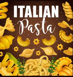 italian pasta macaroni and spaghetti vector image
