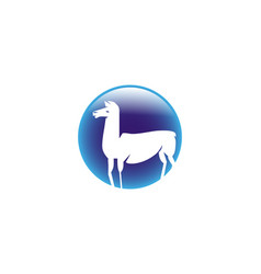 Llama logo vector