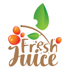 Logo with inscription fresh juices vector