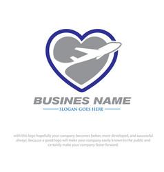 love travel logo designs vector image