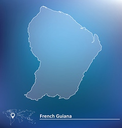 Map of French Guiana vector image
