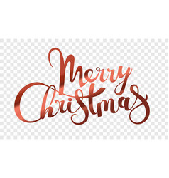 merry christmas logo isolated on transparent vector image