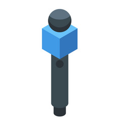 Microphone agitation icon isometric style vector