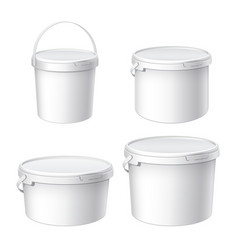 mocap for design white plastic buckets vector image