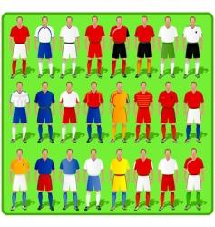 national teams of European football vector image vector image