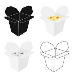 noodles icon in cartoon style for web vector image