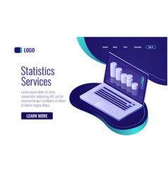 Online statistic and data processing information vector