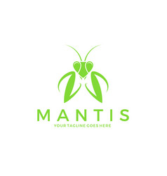 Praying mantis logo vector
