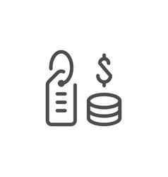 price line icon vector image