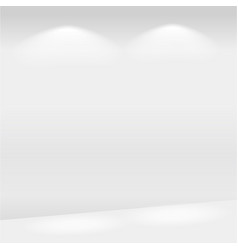 realistic lights on the wall in gallery vector image