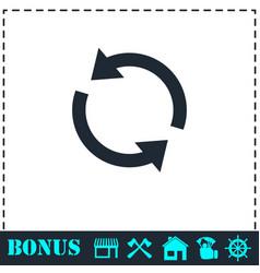 recycle arrow icon flat vector image