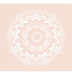 Round ornamental lace crochet vector