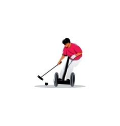 Segway polo sport sign vector