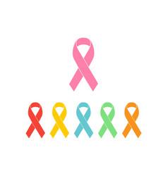 set colorful ribbons vector image