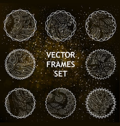 Set of vignettes vector