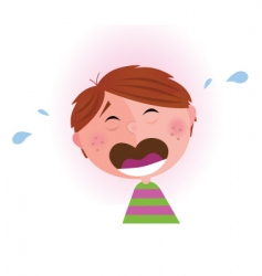 small crying boy vector image