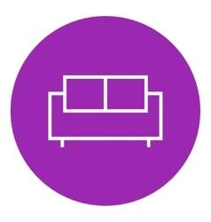 Sofa line icon vector
