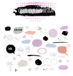 speech bubblestickersarrows sign icon set vector image