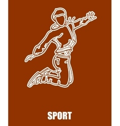 Sport Girl Jumping vector