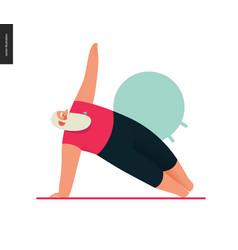 sporting santa - yoga vector image