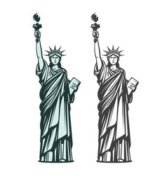 statue of liberty symbol of new york or usa vector image