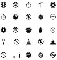 stop icon set vector image