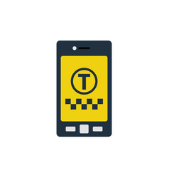 taxi service mobile application icon vector image
