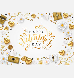 Valentines day composition with romantic vector