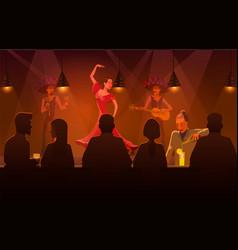 woman dancing salsa in bar of vector image