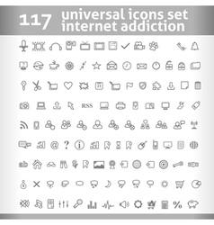 117 Universal Icons Set Collection vector image vector image