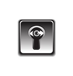 eye under the lock vector image