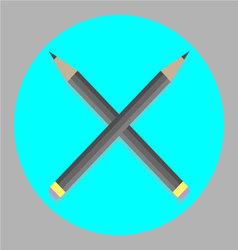 Icon cross pencil vector image vector image