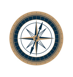 antique sea compass icon wind rose vector image