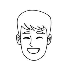 character man face happy smile cartoon vector image vector image