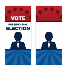 Man President Election Brochure Covers vector image vector image