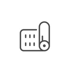 mat line icon vector image