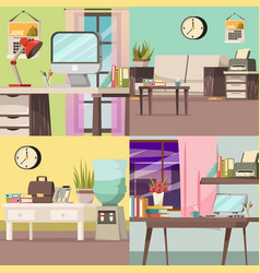 office orthogonal concept set vector image