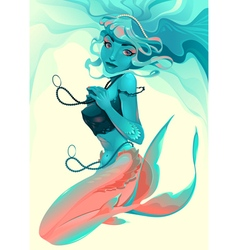Portrait of a mermaid vector image vector image