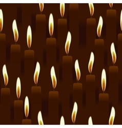 seamless burning candle church background vector image