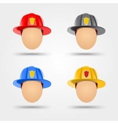 firefighter helmets vector image vector image