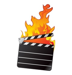 Hot movie vector image