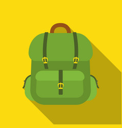 hunting backpack icon in flat style isolated on vector image