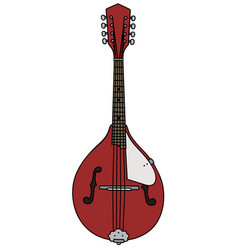 red country mandolin vector image vector image