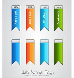 Web banner tag to use for social buttons vector image