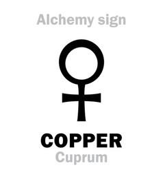 alchemy copper cuprum vector image vector image