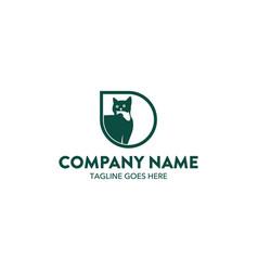 cat logo-20 vector image vector image